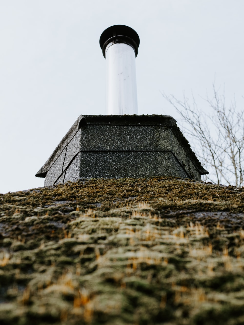 white and black chimney during day