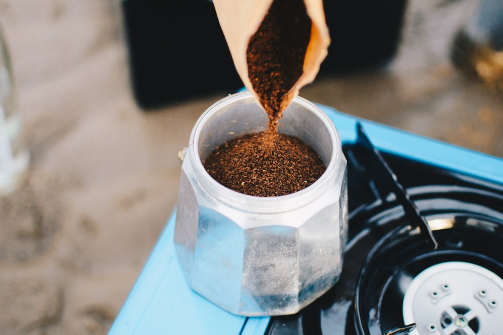coffee grains in jar