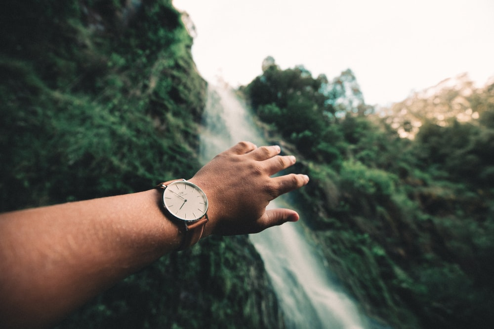 person wearing watch