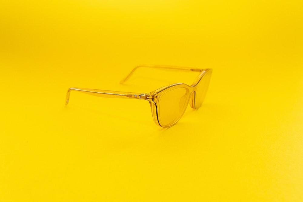 gold framed eyeglasses