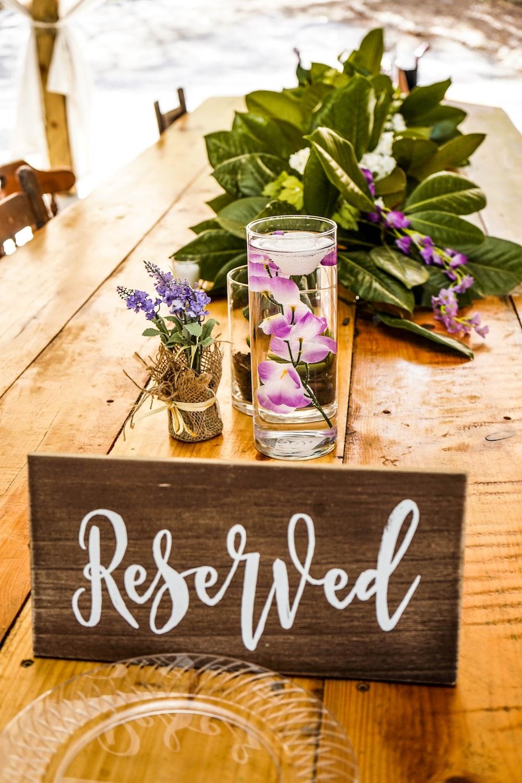 reserved signage