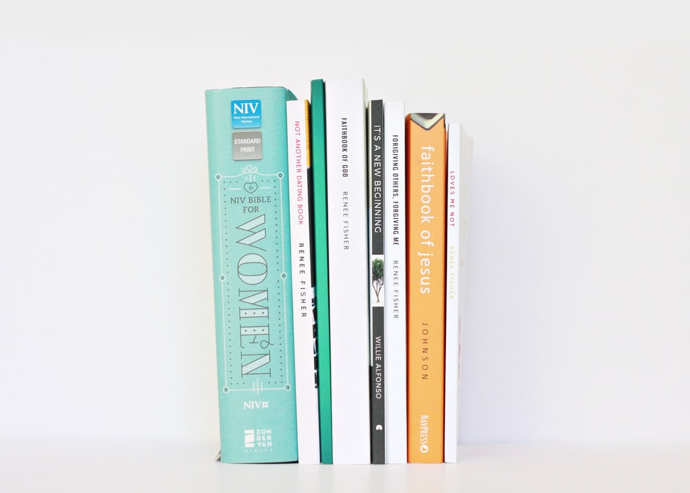 several assorted piling books