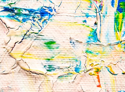blue green and orange abstract painting expressionism zoom background