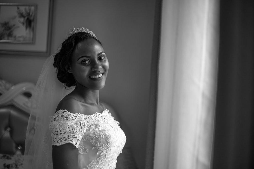bride wearing wedding gown