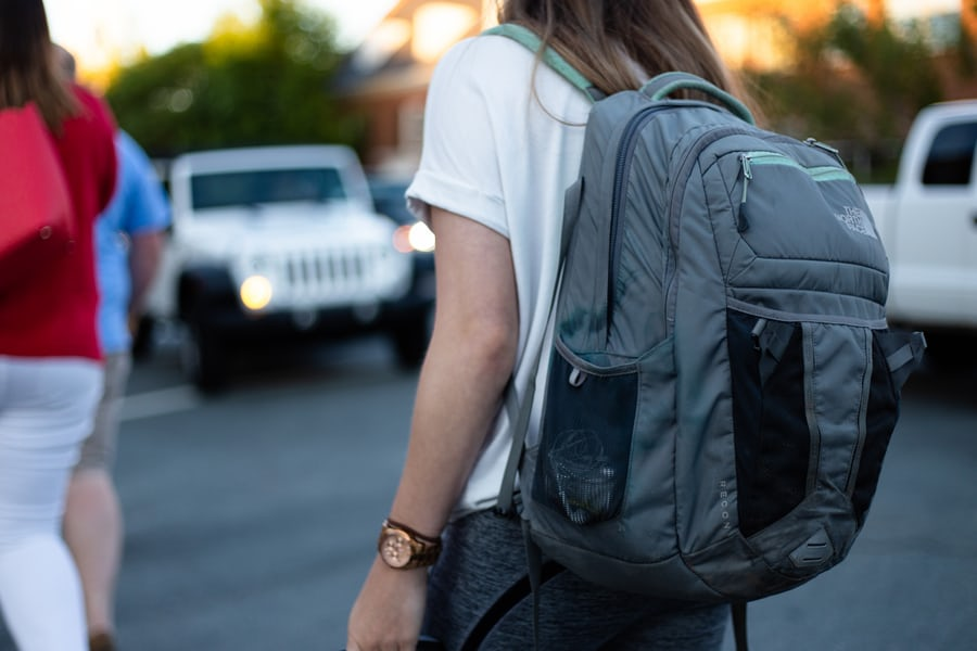 Woman with a backpack