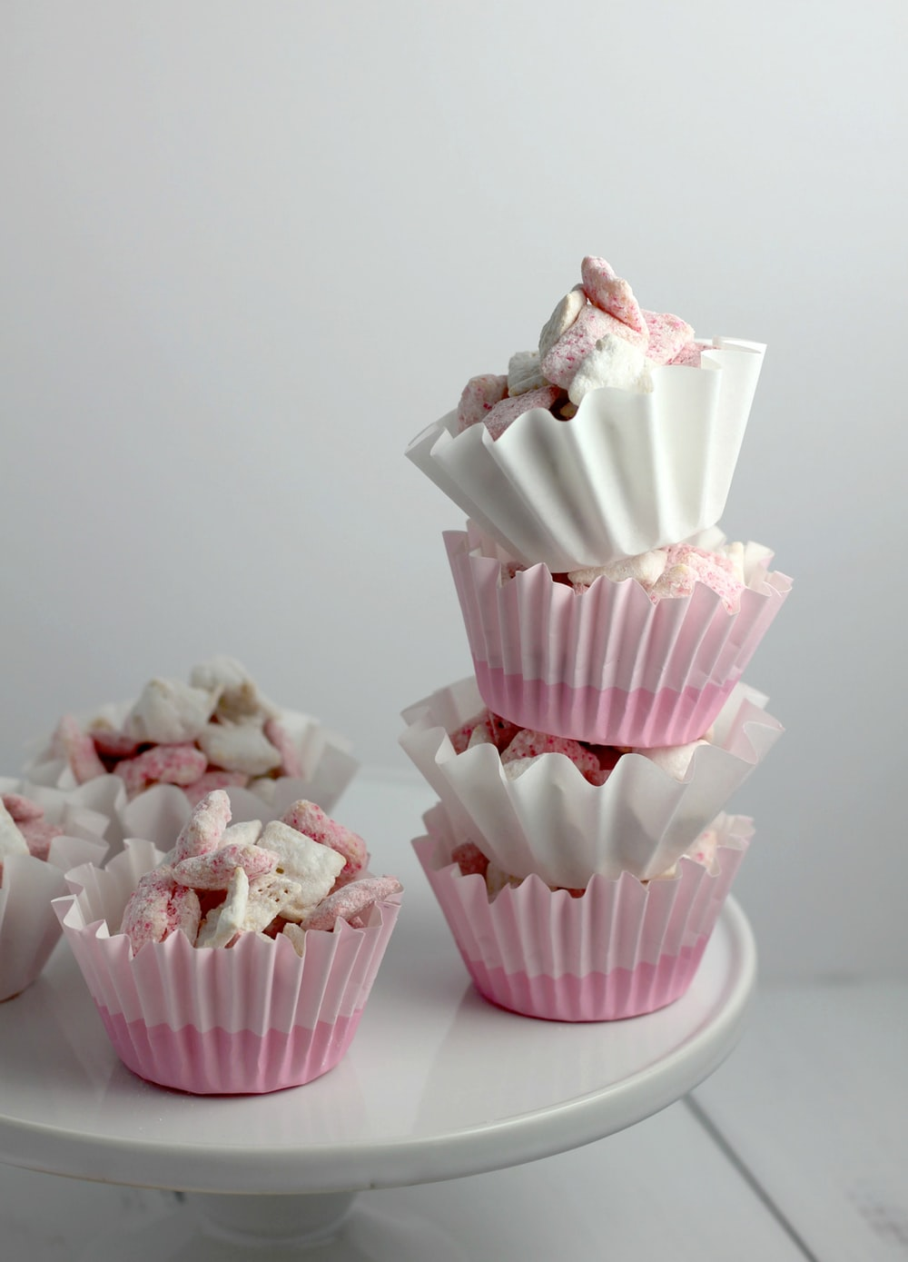 cupcakes on white cupcake stand