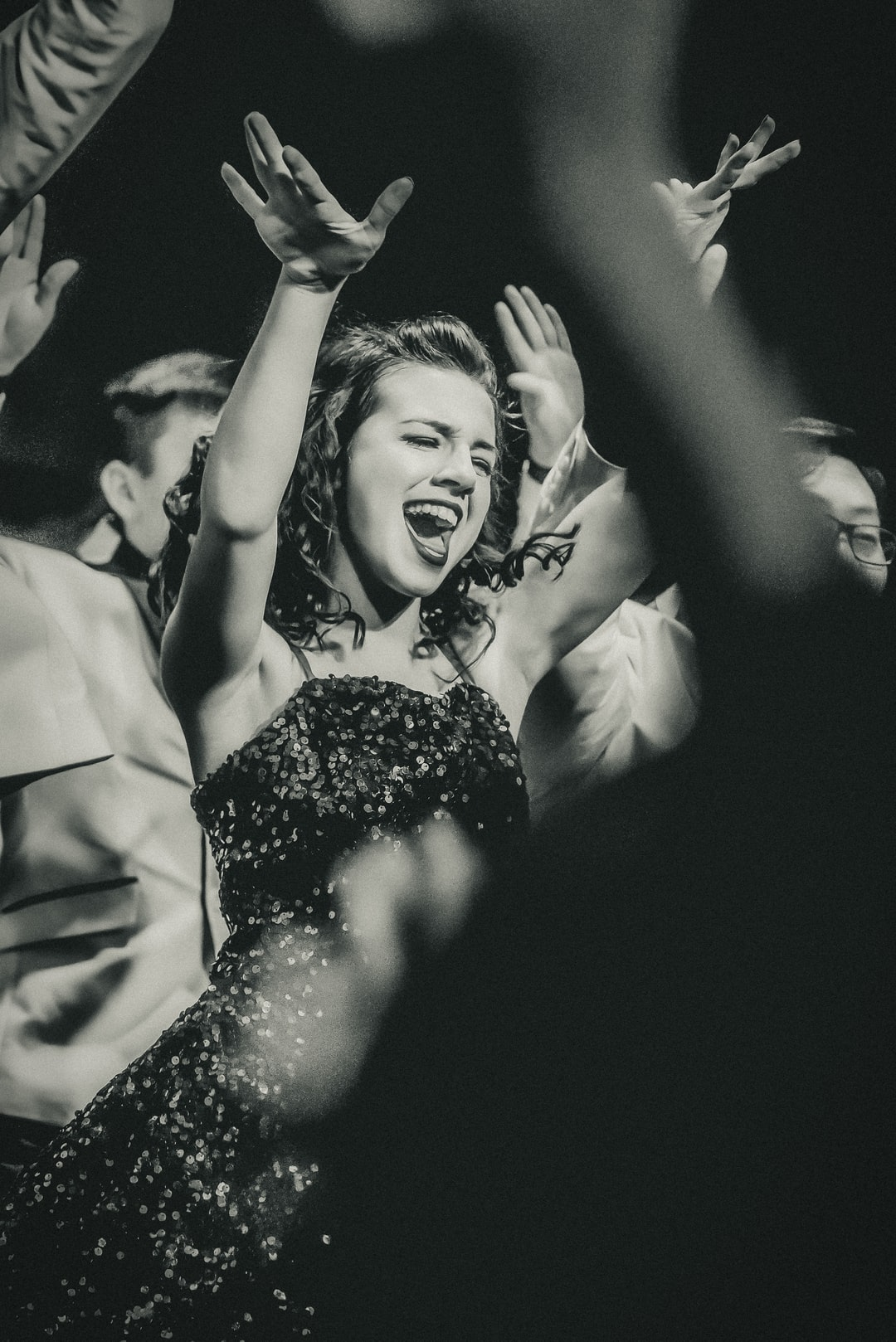 (Internation Women's Day) This young lady was all in for her high school show choir event.  I love the energy and the willingness to just throw herself into the performance 100%.   The show lights ended up giving this a 1940's newspaper vibe - which I totally loved and thought made a perfect fit.