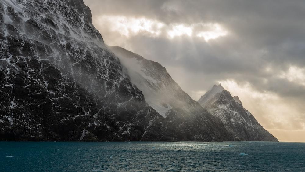 mountain and ocean