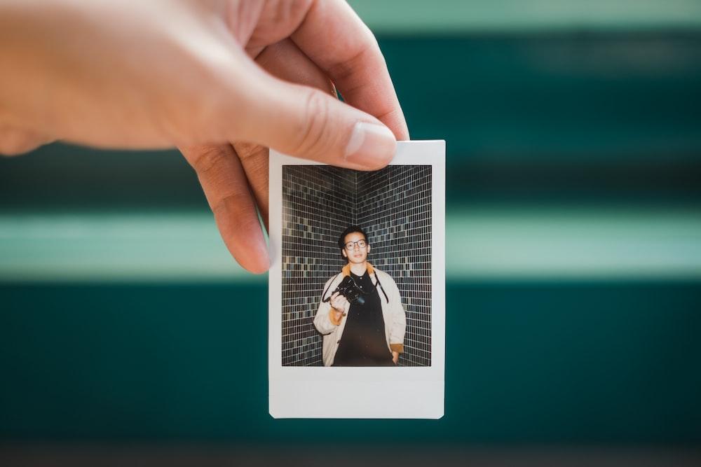 man in white jacket photo