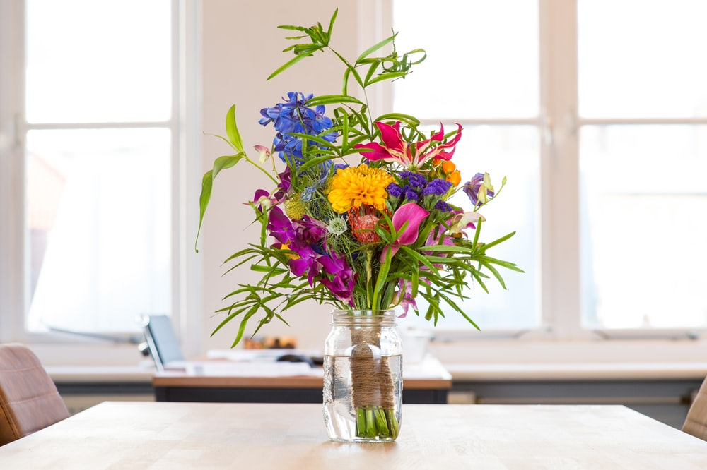 assorted-color flowers