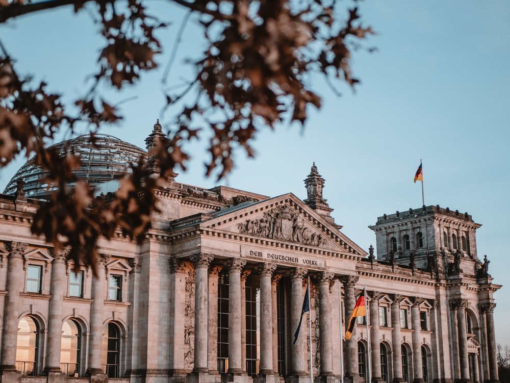 Reichstag building, Germany during daytime