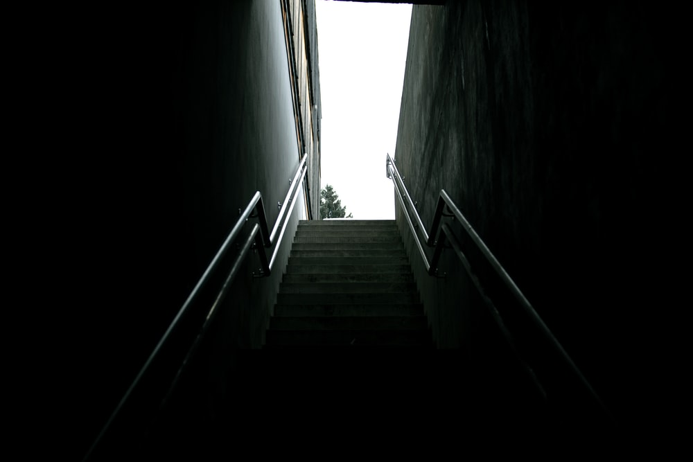 bottom view of stairs during daytime