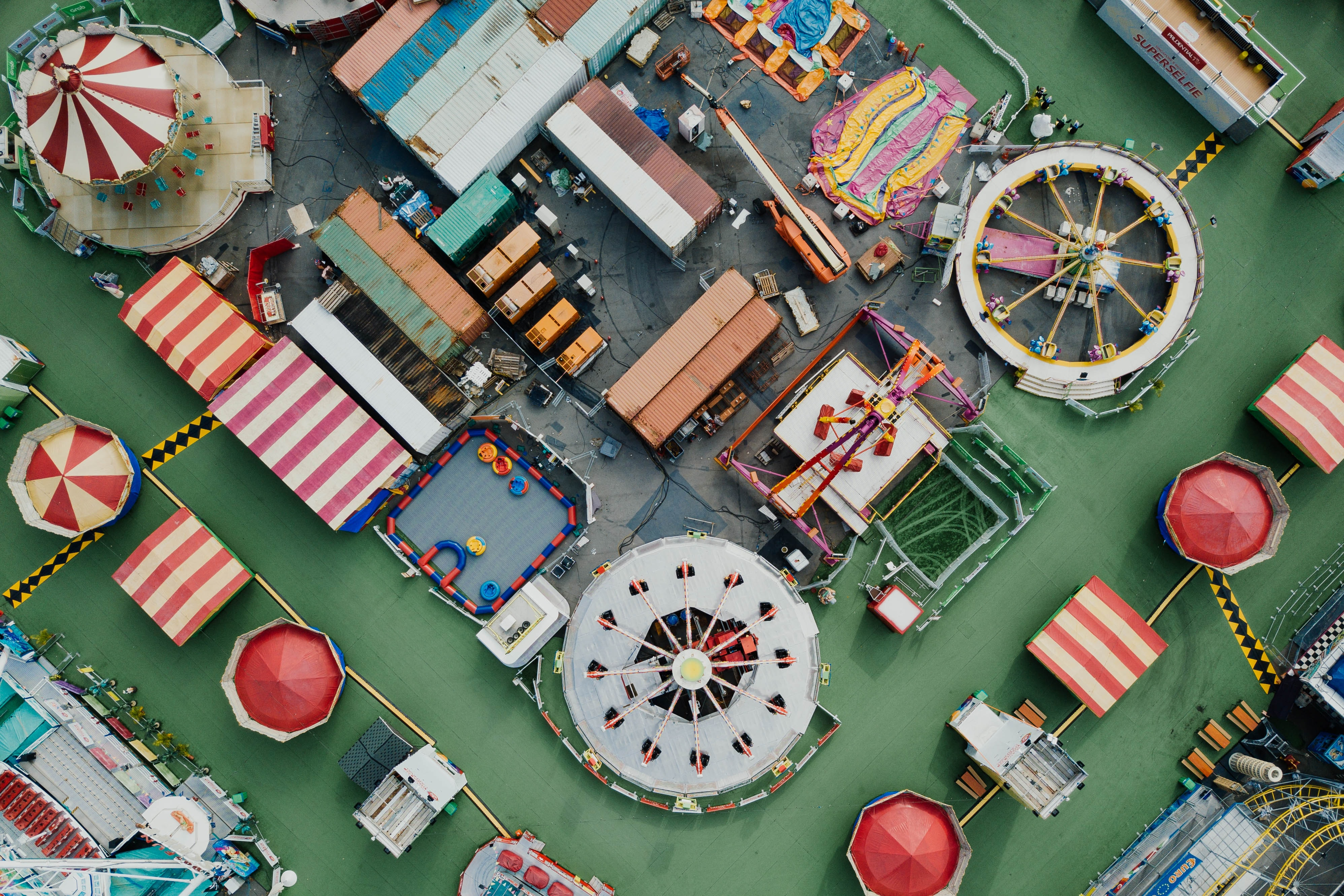 high-angle photography of carnival