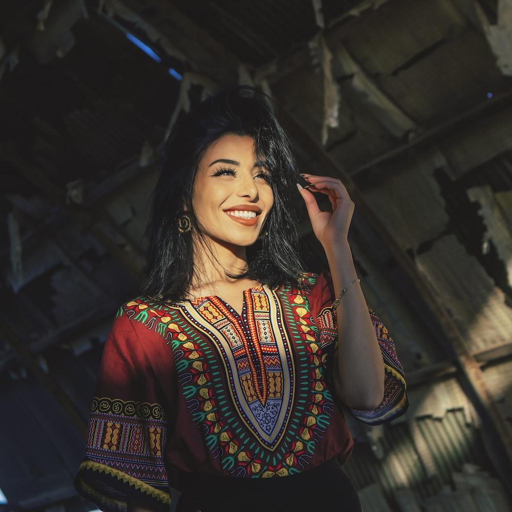 woman wearing tribal dress