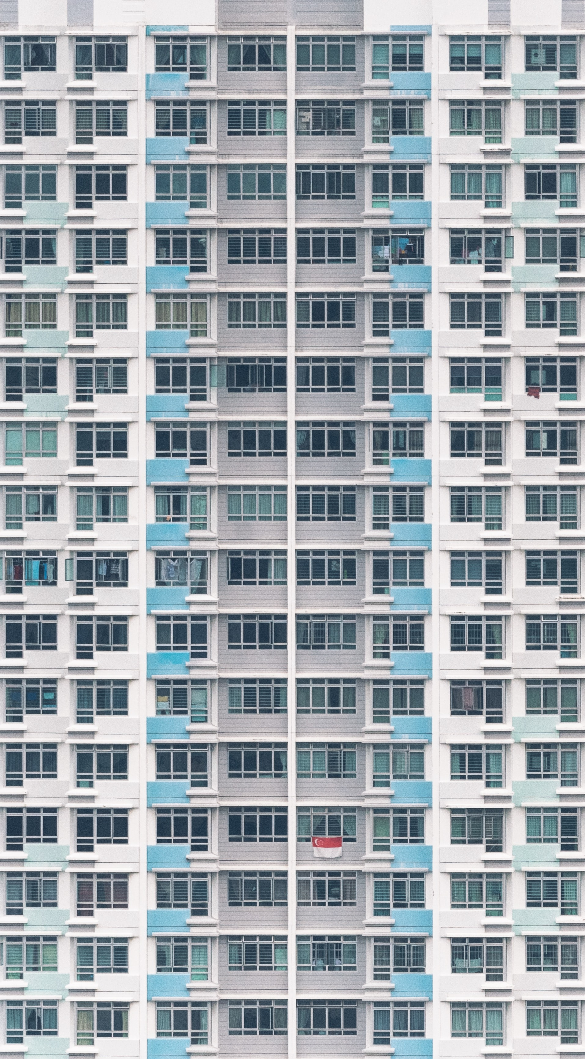 gray and white high-rise building