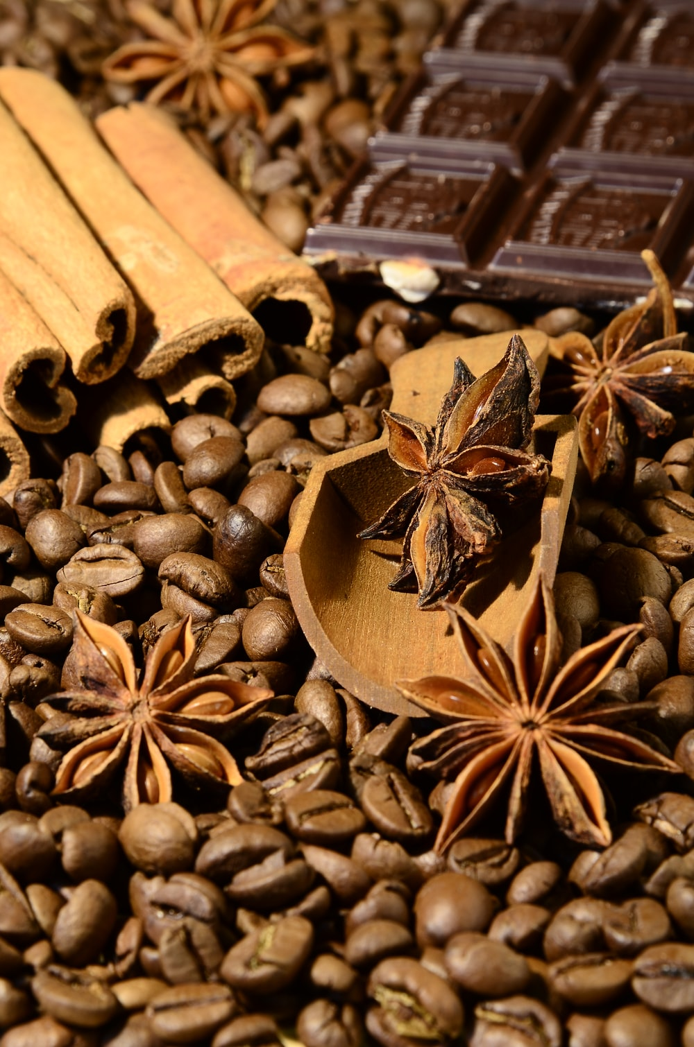 chocolates and coffee beans
