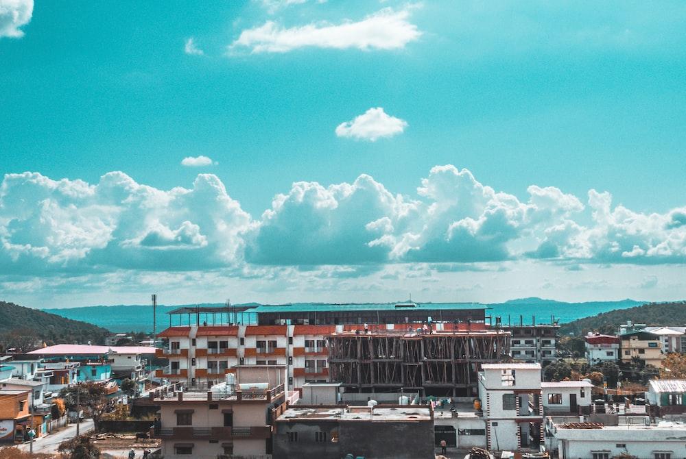 city skyline house