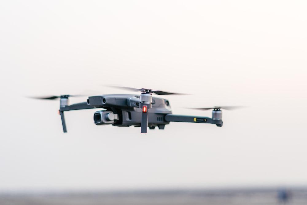 gray drone quadcopter