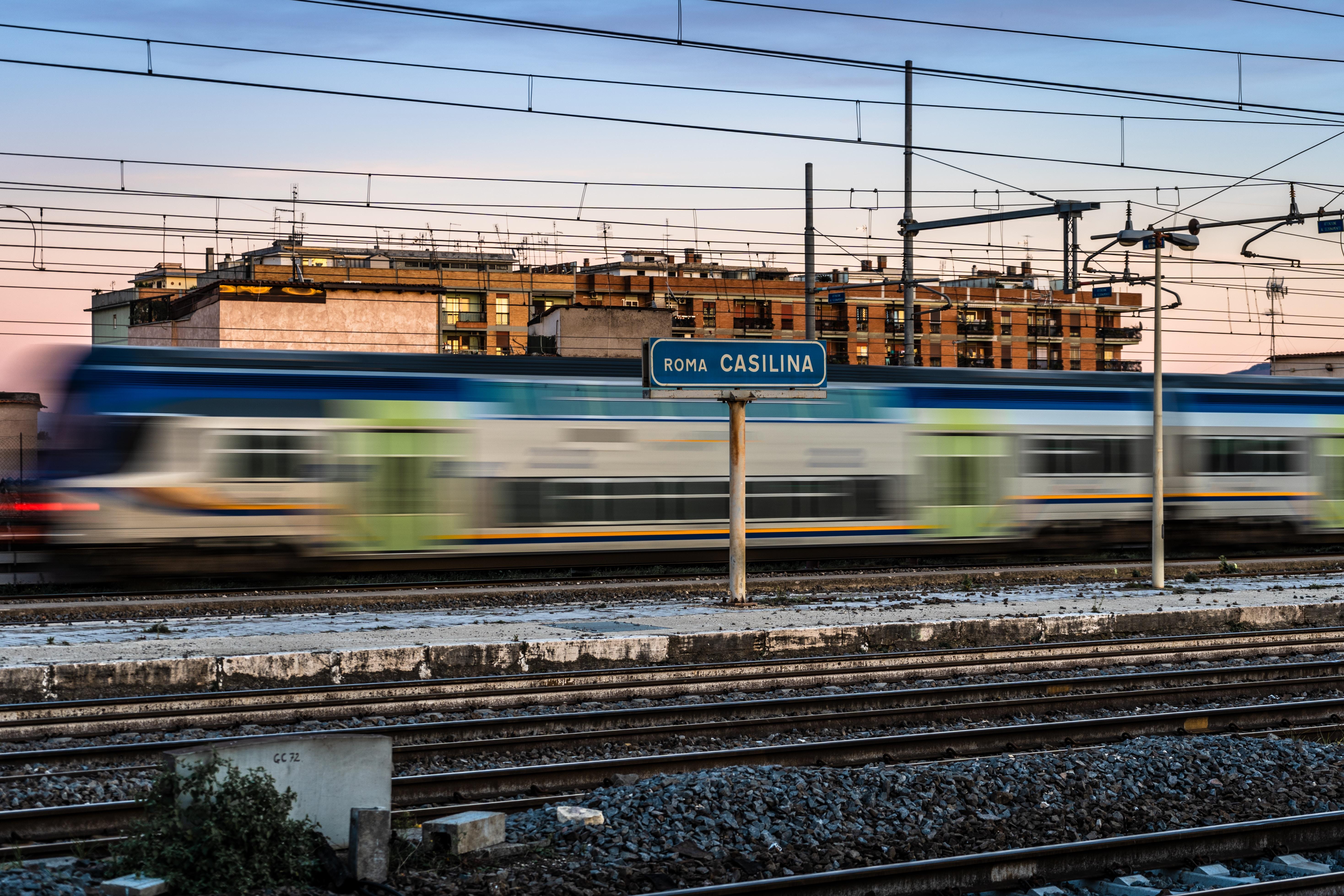 train passing through