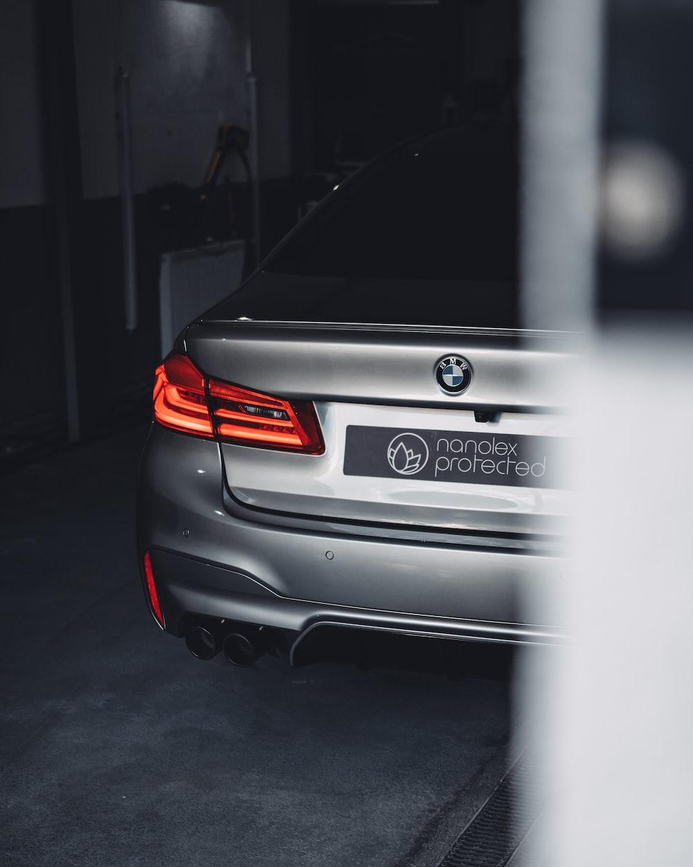 silver BMW car