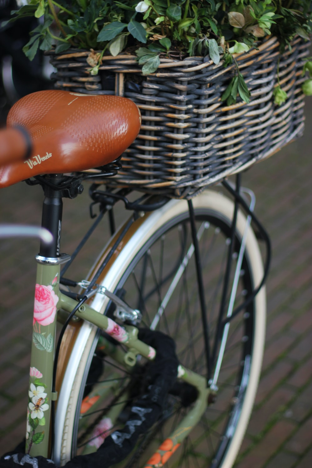 black and green bicycle