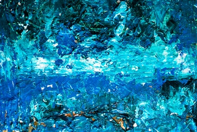 blue painted wall expressionism zoom background