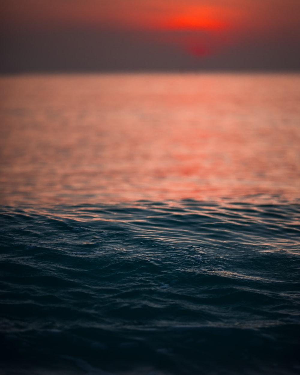 sea waves during sunset