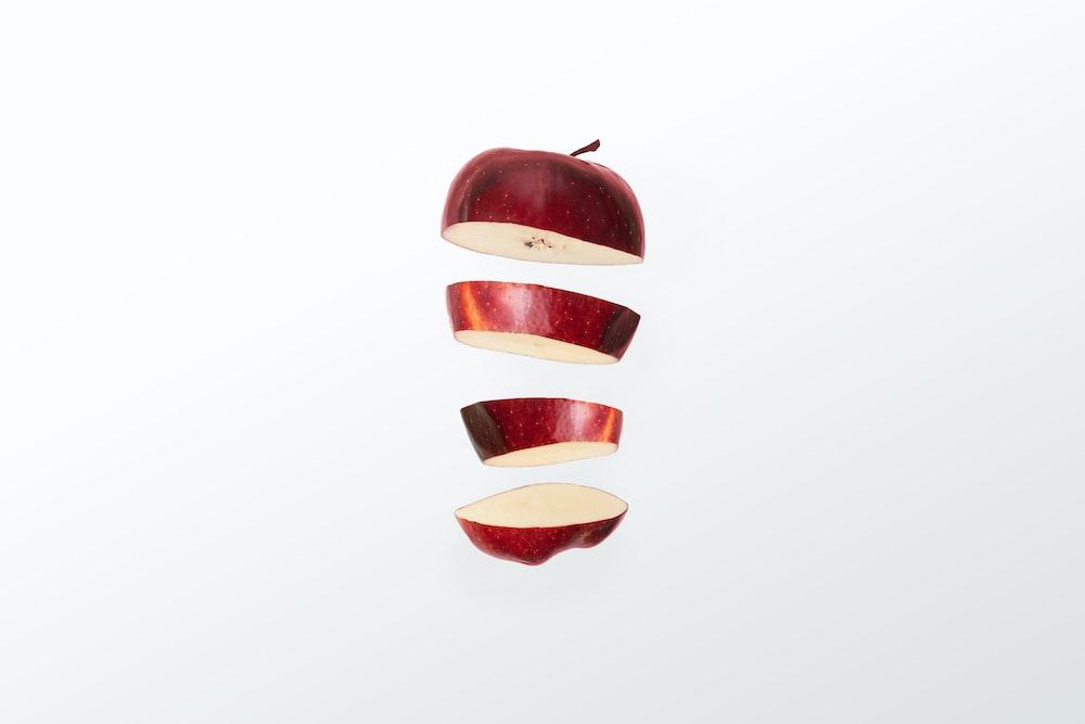 red apple sliced