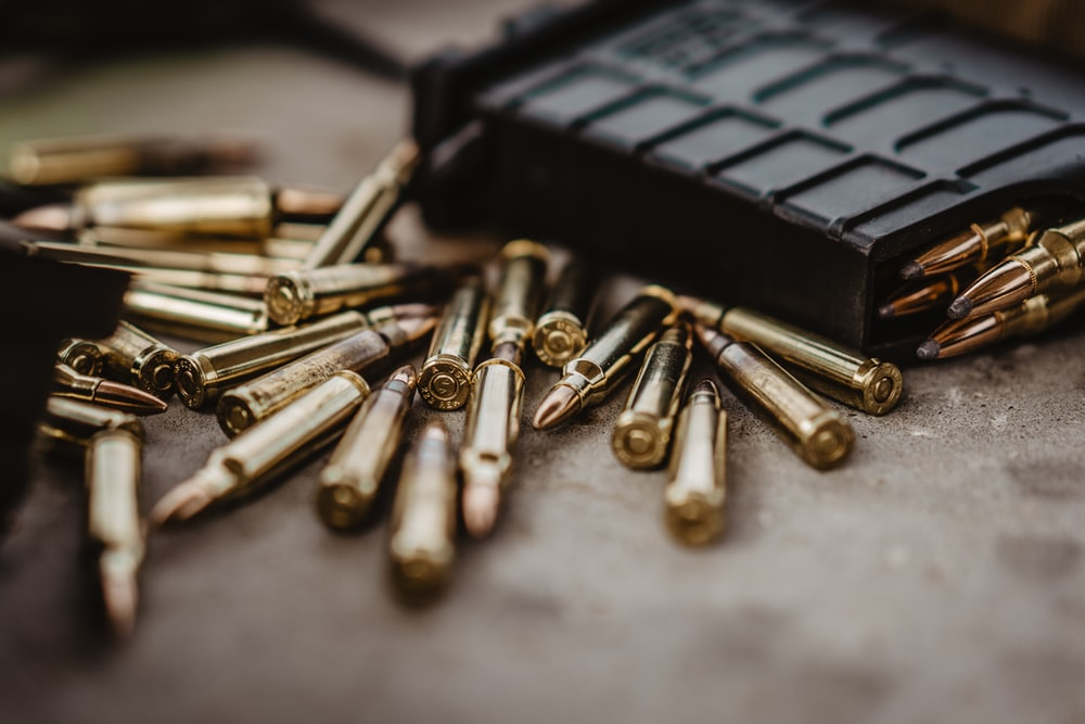 brass-colored bullets