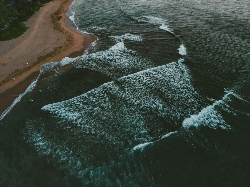 sea waves by the shore