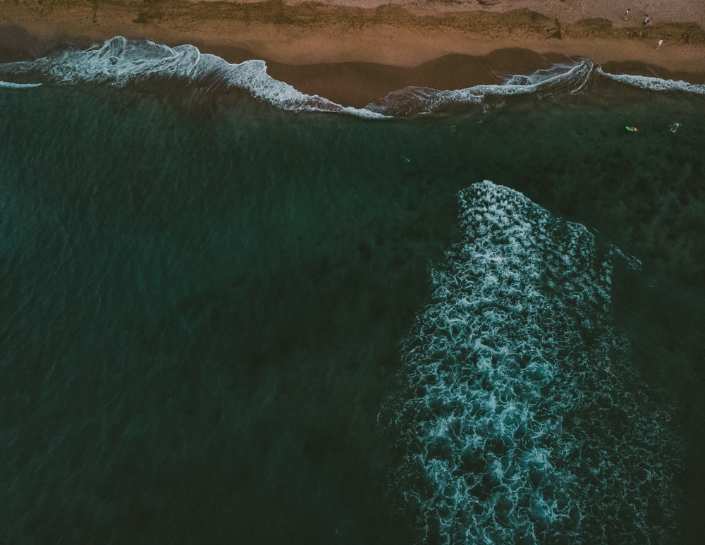 aerial photography of ocean during daytime