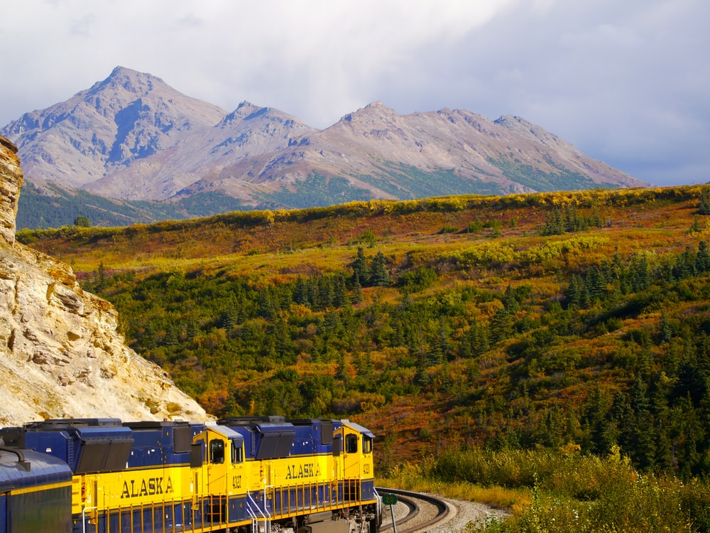 train and mountain