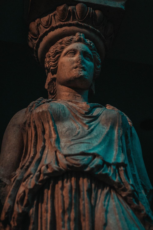 standing human statue