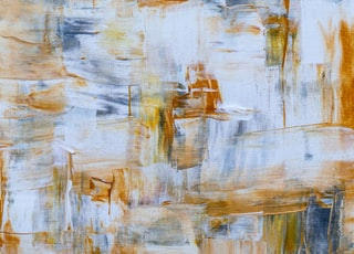 blue and yellow abstract painting