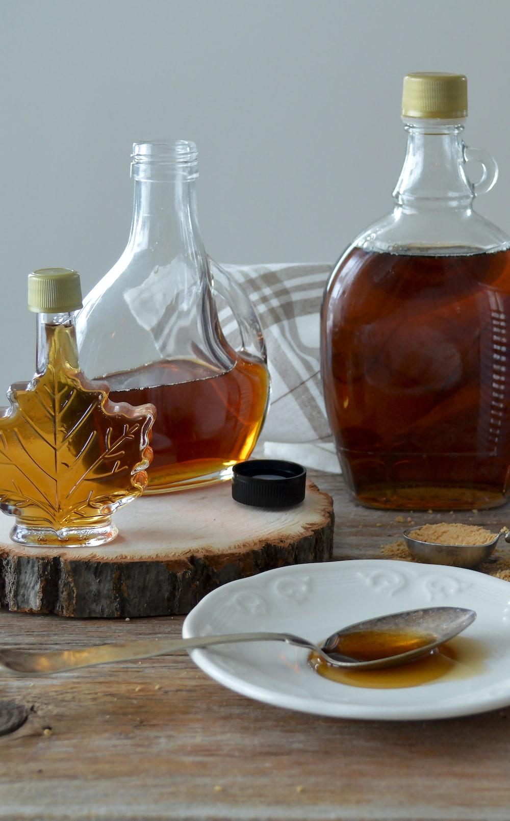 honey filled bottle on the table
