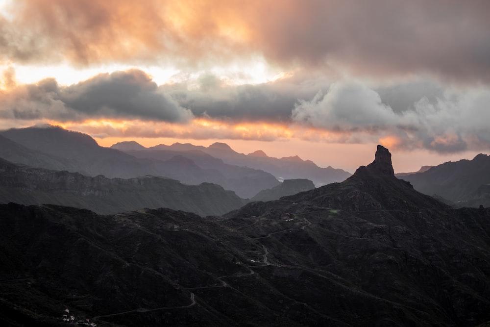 brown mountain scenery