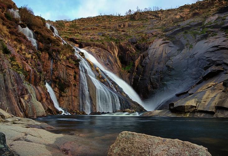 Ezaro waterfall in Spain