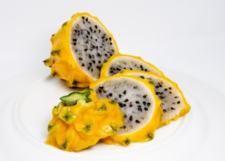 yellow sliced dragon fruit