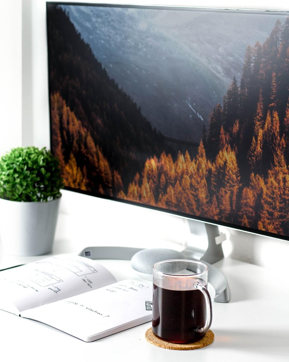 flat screen monitor on desk