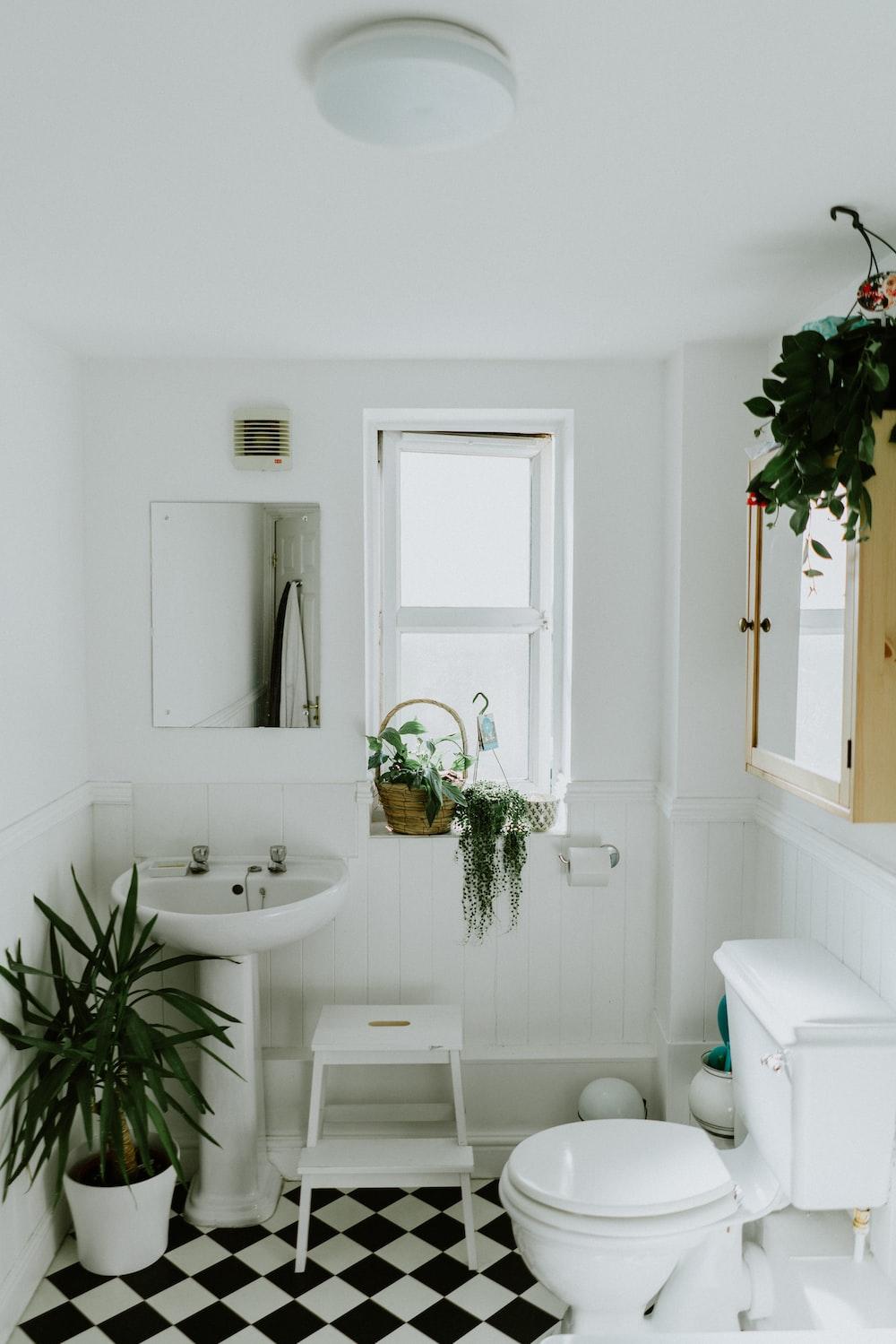 white ceramic pedestal sink