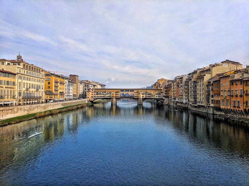 landscape of a river and a bridge