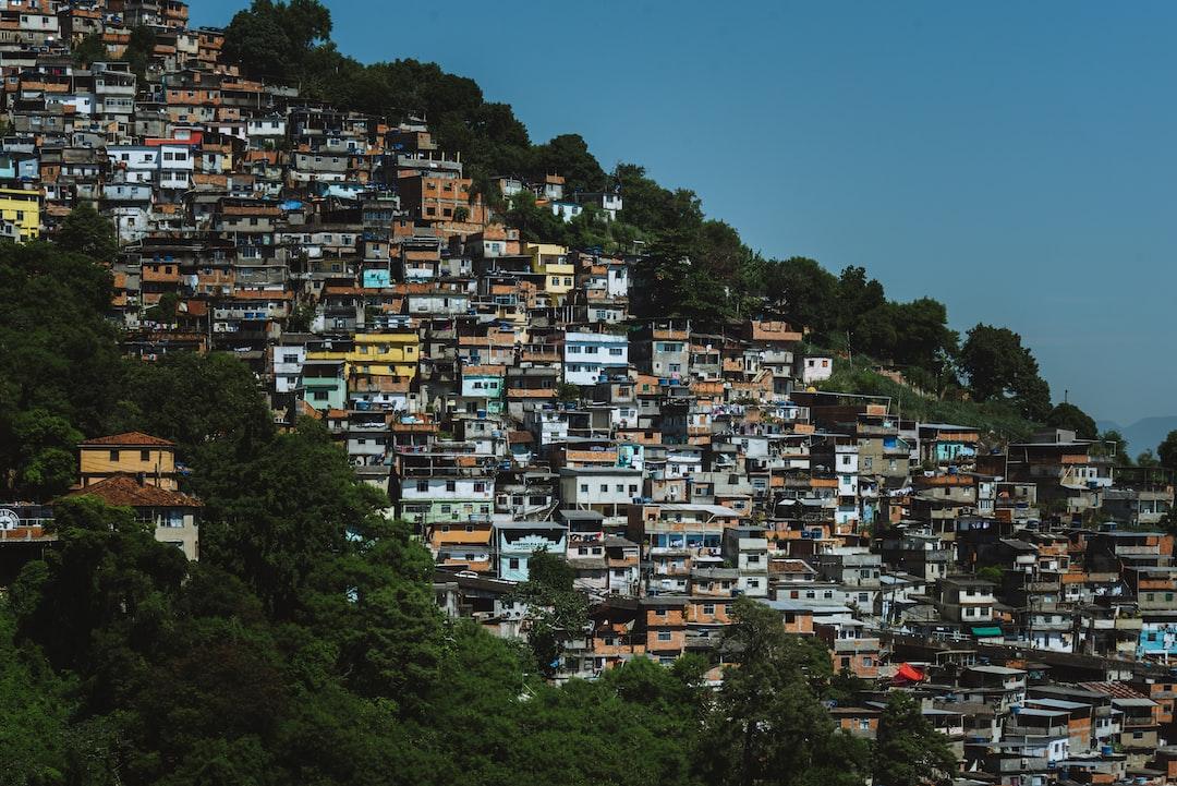 Hillside favela in Rio de Janeiro