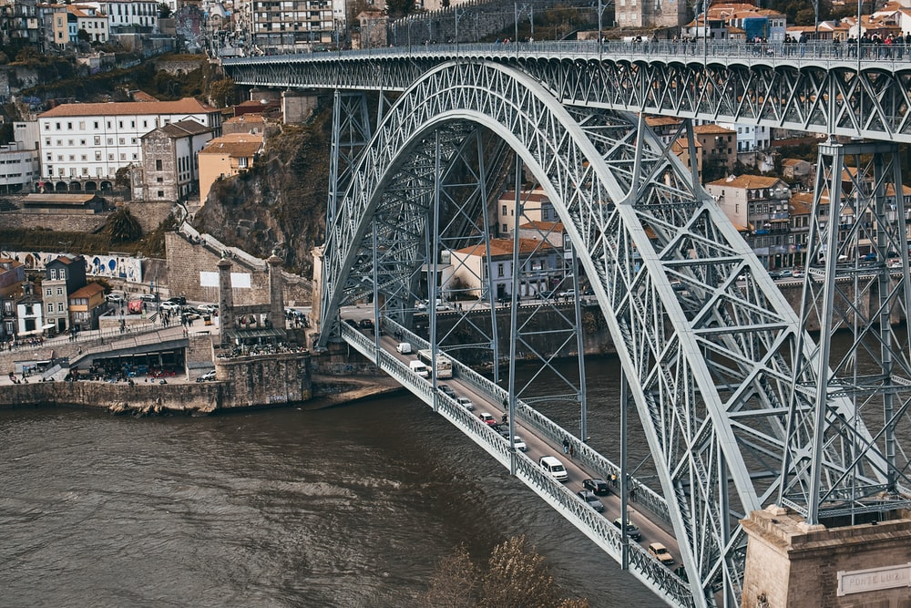aerial view photography of long bridge