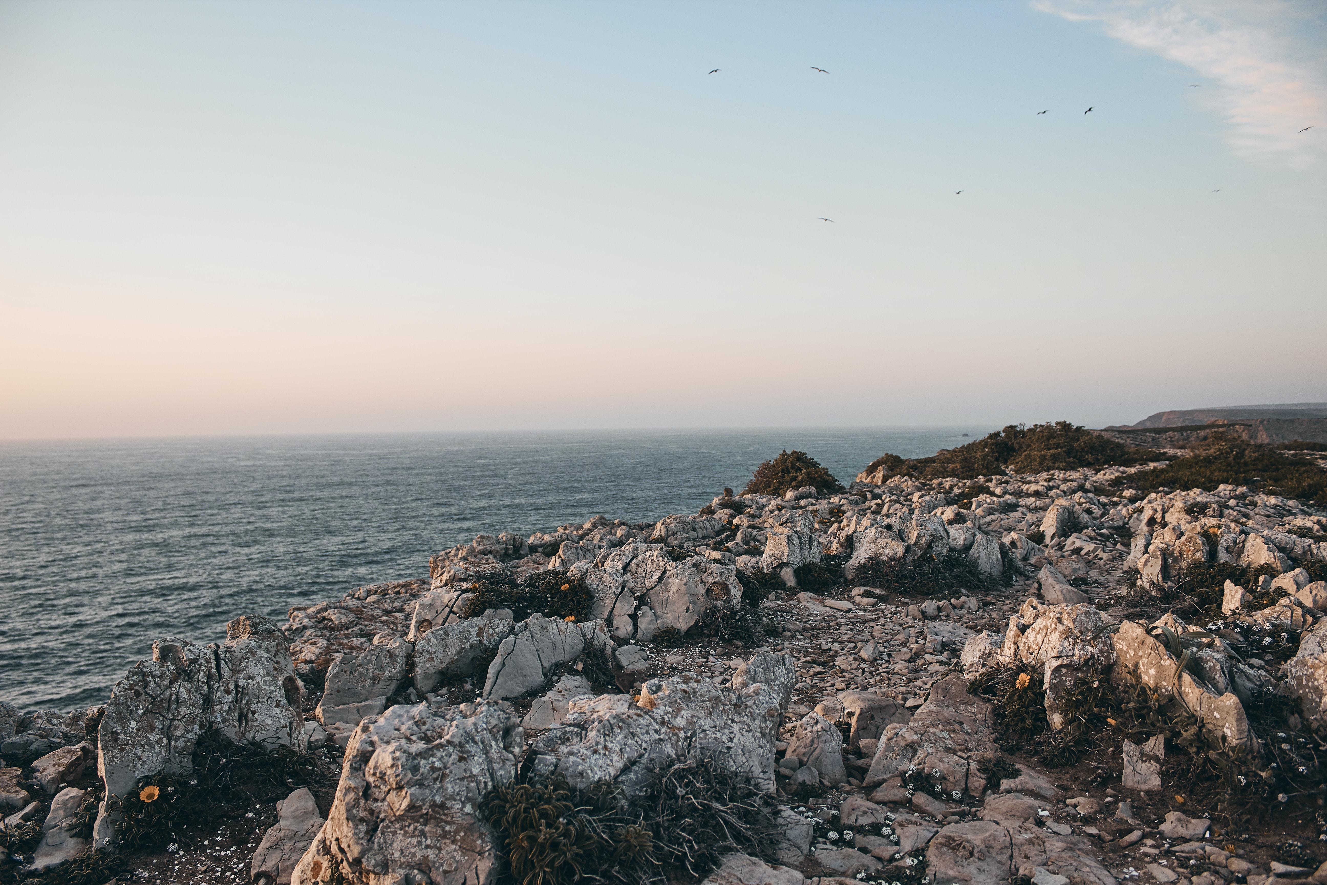 stones over the sea