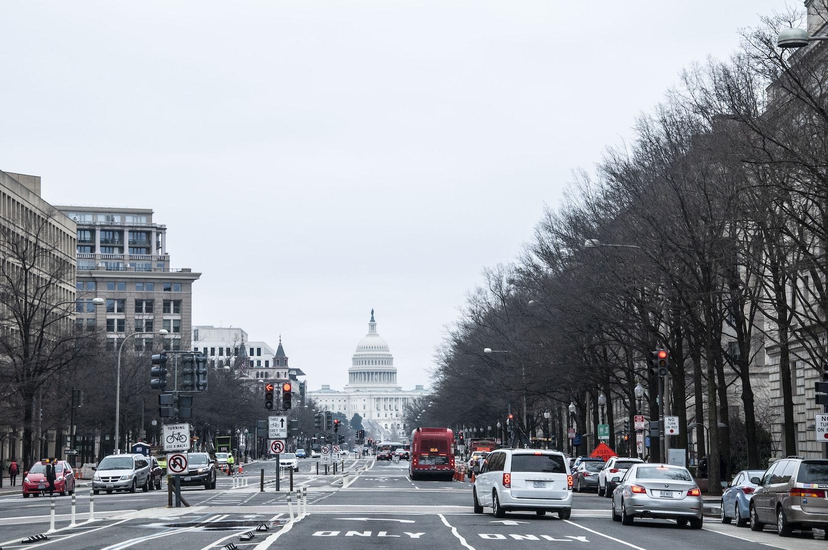 Busy street in Washington D.C.