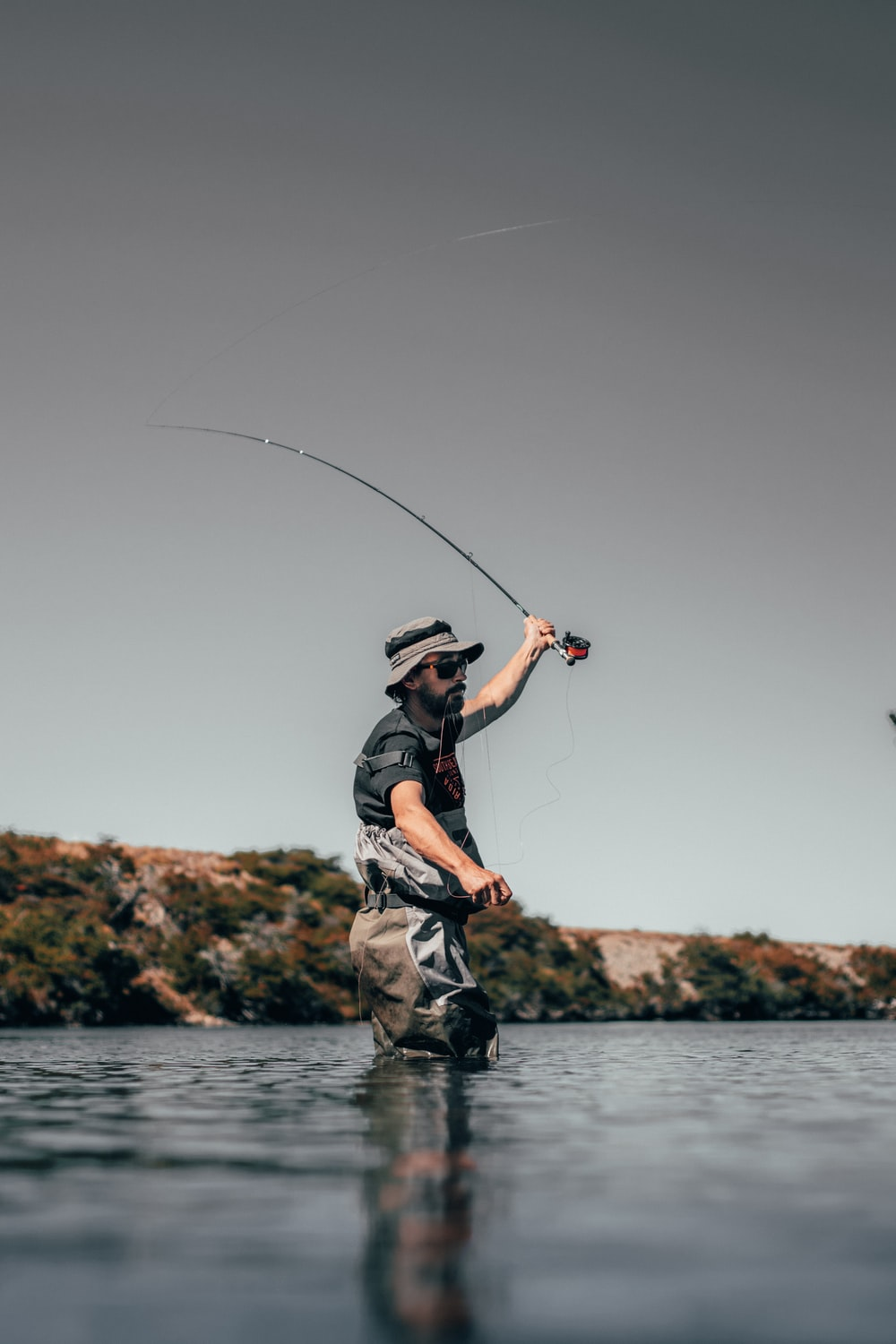 man about to catch fish