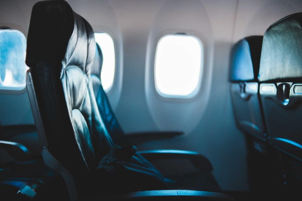 black passenger seat