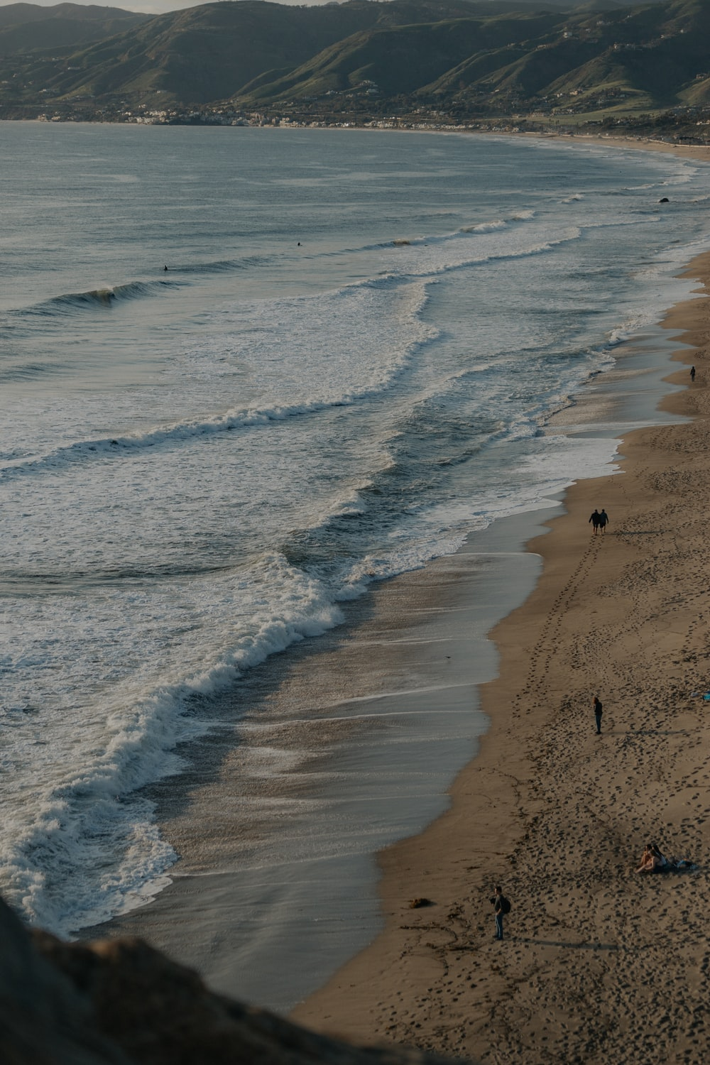 landscape photography of beach