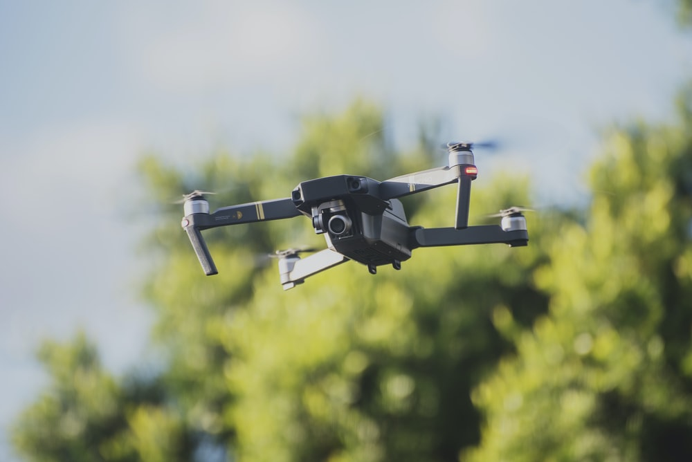 quadcopter drone on flight