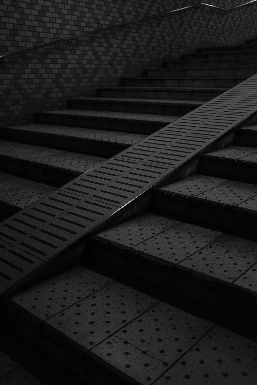 black step stairs